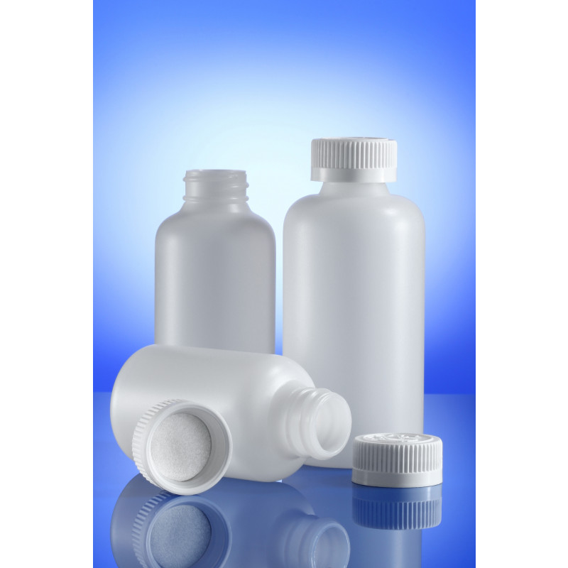 Triveni Dry Syrup (induction seal) plastic container for solid pharmaceuticals