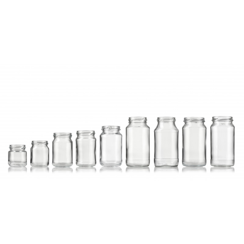 Wide-mouth jars made of moulded glass (200ml)