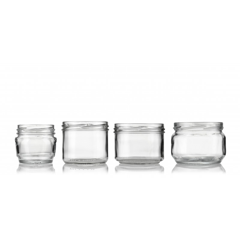 Wide-mouth jars made of moulded glass (180ml)