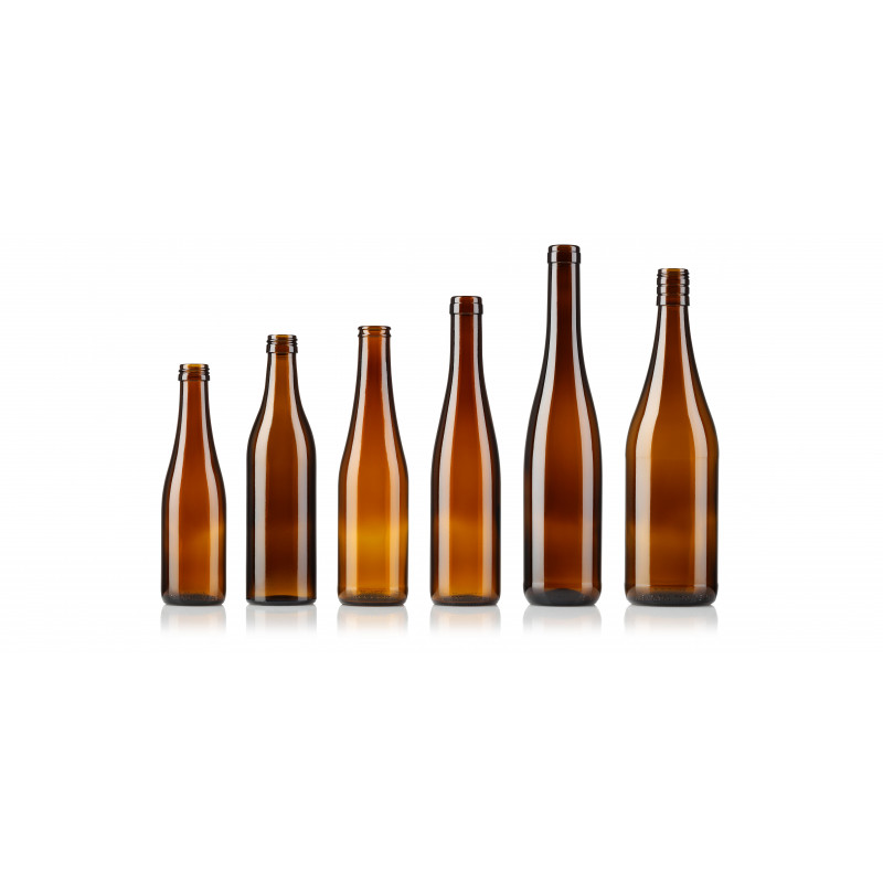 Wine bottles made of moulded glass (250ml)