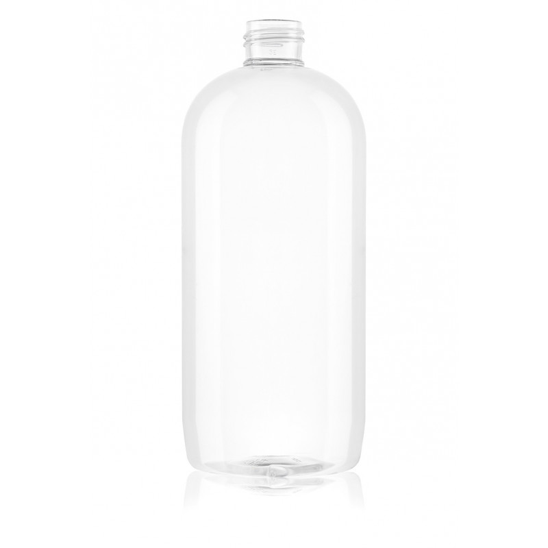 Round bottles Omega for personal care and cosmetics made of PET