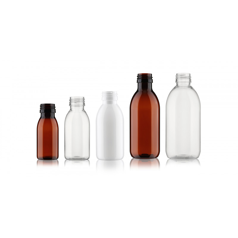 PF Flasche mit Flaschenhals PP28